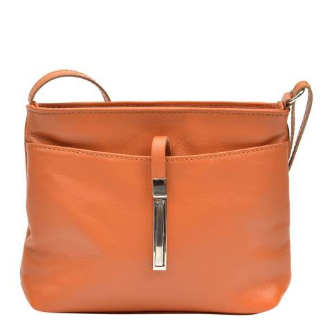 Roberta M Brown Leather Crossbody Bag