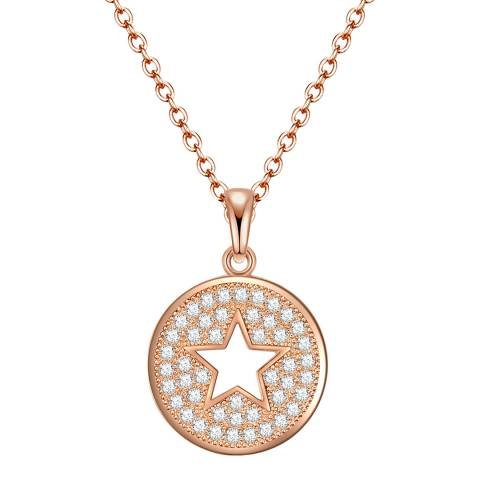Tassioni Rose Gold Zirconia Star Necklace