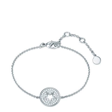 Tassioni Silver Zirconia Star Bracelet