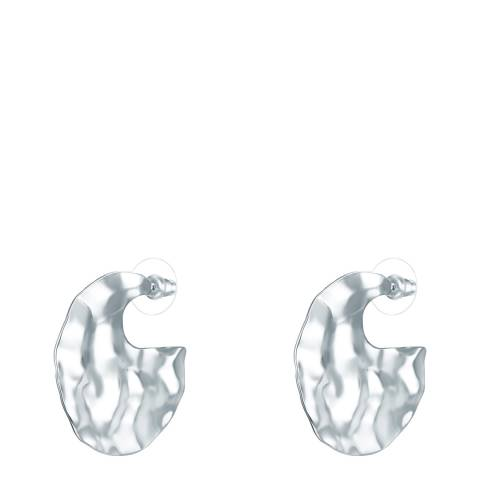 Tassioni Silver Hoop Earrings