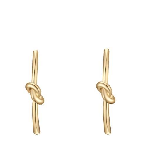 Tassioni Gold Knot Earrings