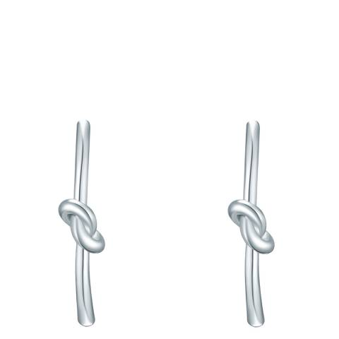 Tassioni Silver Knot Earrings
