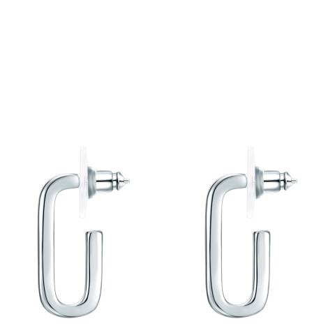 Tassioni Silver Open Hoop Earrings