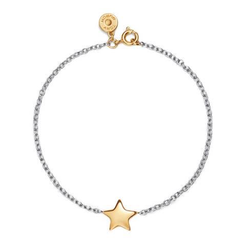 Tory Burch Silver Gold Celestial Star Bracelet