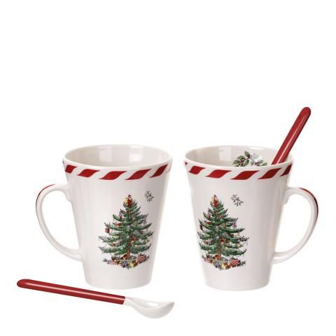 Spode Christmas Tree Peppermint Mug & Spoon Set