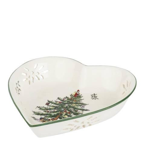 Spode Christmas Tree Pierced Heart Dish