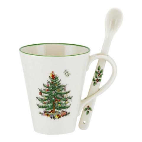 Spode Christmas Tree Mug & Spoon