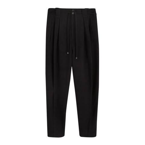 Mango Black Pleated Suit Pants