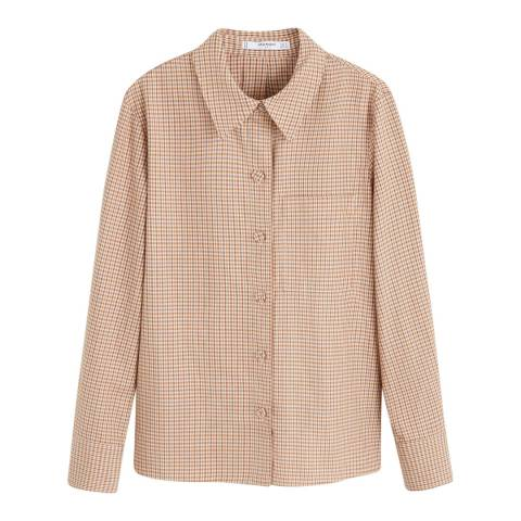 Mango Brown Check Cotton Shirt