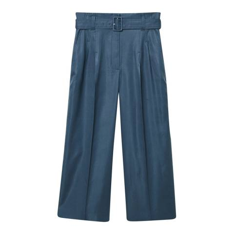 Mango Blue Flared Trousers