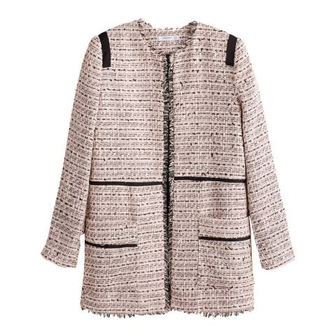 Mango Ecru Pocket Tweed Jacket
