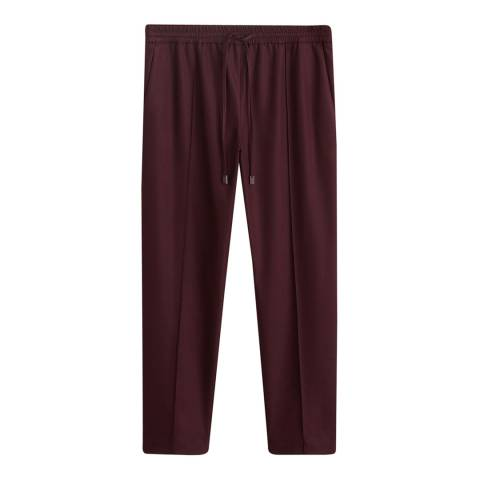 Mango Maroon Adjustable Waist Trousers