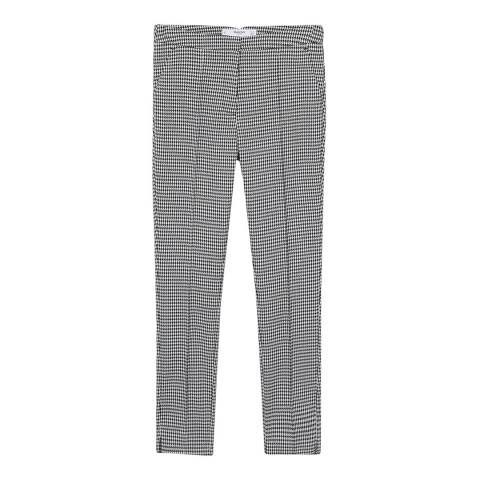 Mango Black/White Skinny Suit Trousers