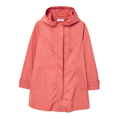 Mango Pink Hooded Water-Repellent Parka