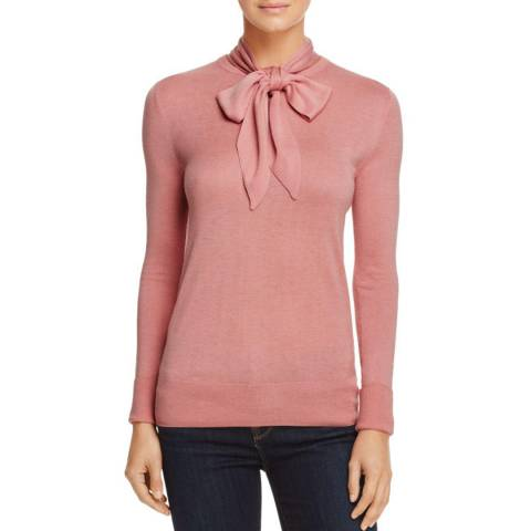 WHISTLES Pink Annie Sparkle Knit Top