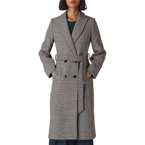 WHISTLES Multi Penelope Belted Check Coat