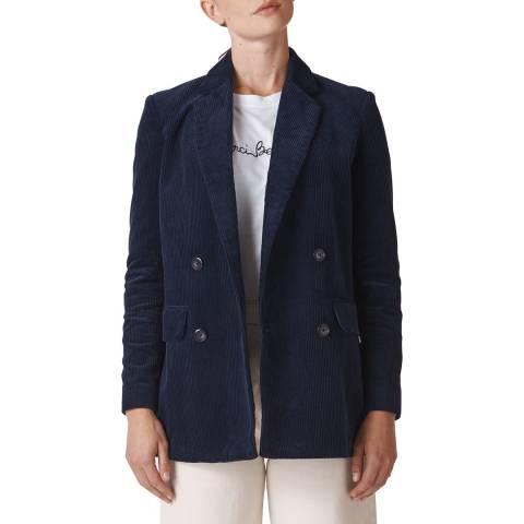 WHISTLES Navy Cord Cotton Blazer