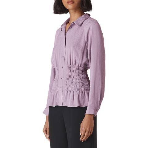 WHISTLES Purple Claris Animal Blouse