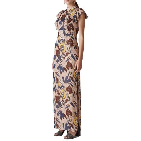 WHISTLES Beige Bernadette Montrose Dress