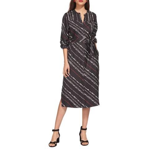 WHISTLES Multi Lightning Print Silk Dress