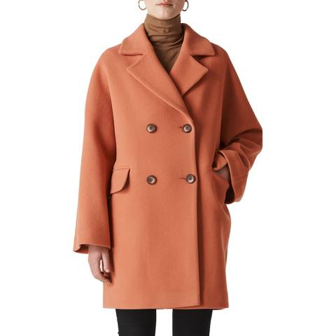 WHISTLES Terracotta Wide Sleeve Coat