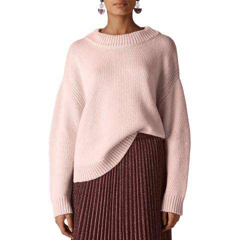 WHISTLES Pink Chunky Cropped Jumper