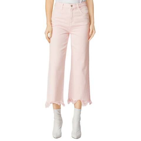 J Brand Light Pink Joan Crop Bootcut Jeans
