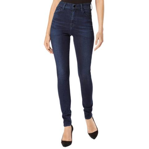J Brand Dark Blue Carolina Skinny Stretch Jeans