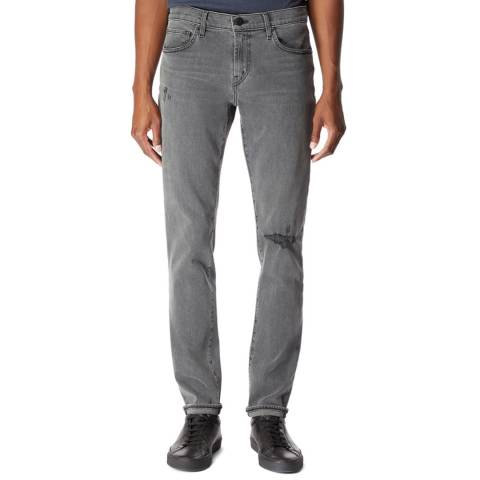 J Brand Grey Tyler Tapered Fit Jeans