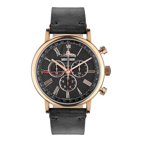 Richtenburg Men's Black/Rose Gold Burbank Quarz Watch