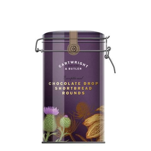 Cartwright & Butler Chocolate Drop Shortbread Rounds Tin