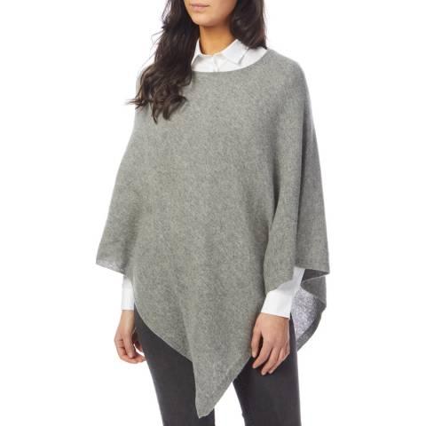 Laycuna London Light Grey Cashmere Poncho