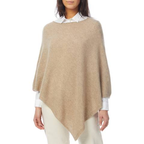 Laycuna London Taupe Cashmere Poncho