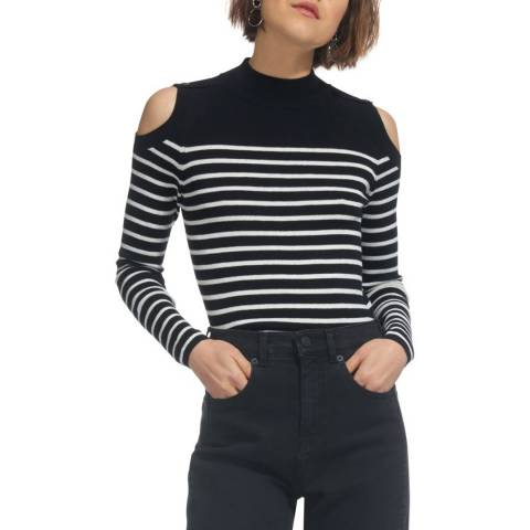 WHISTLES Multi Cold Shoulder Button Jumper