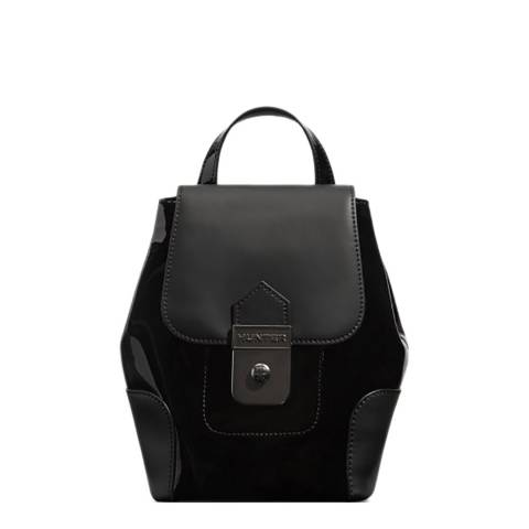 Hunter Black Refined Leather Mini Backpack