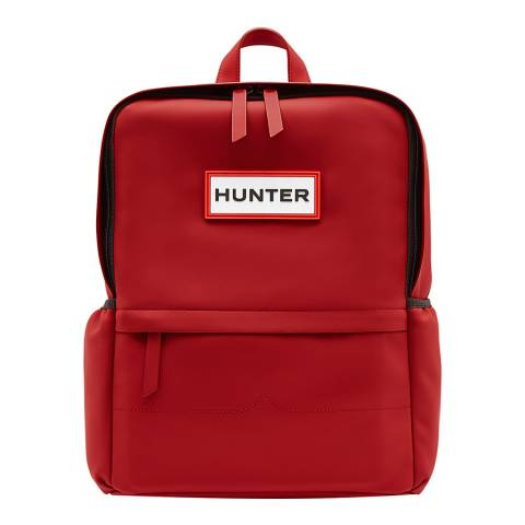 Hunter Red Original Rubberised Backpack