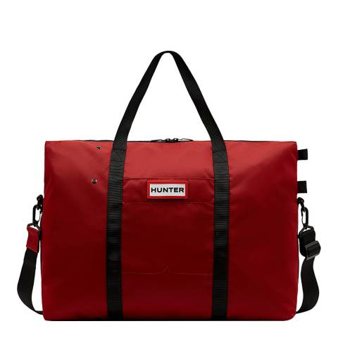 Hunter Red Original Nylon Weekender Bag