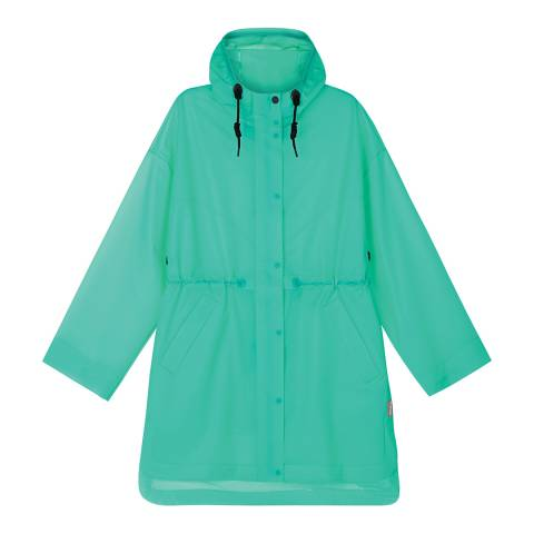 Hunter Neon Blue Oversized Raincoat