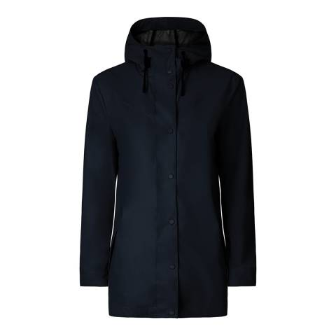 Hunter Navy Lightweight Rubberised Jacket