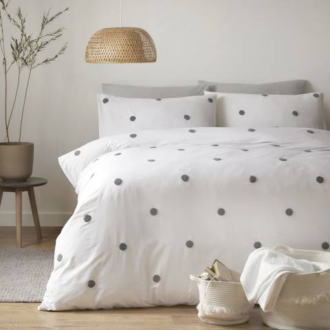 N°· Eleven Dot Garden King Duvet Cover Set, Slate