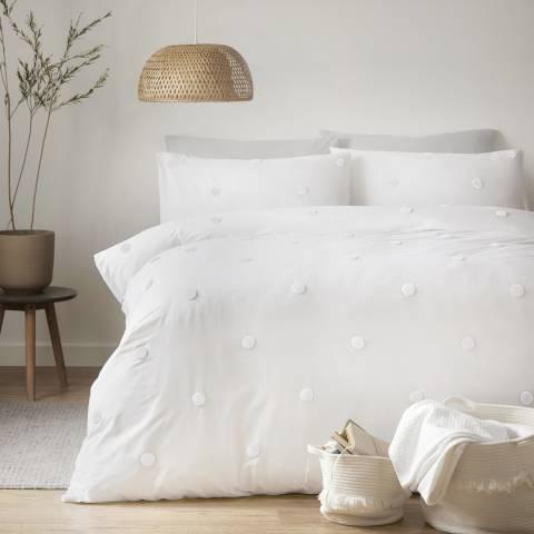 N°· Eleven Dot Garden King Duvet Cover Set, White