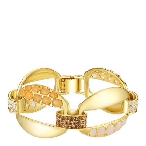 Lilly & Chloe Gold Crystal Link Bracelet