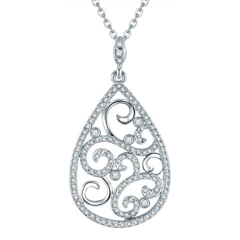 Lilly & Chloe Silver Filigree Necklace