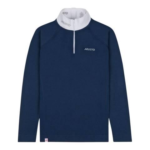 Musto Navy Performance Long Sleeve Stock Shirt
