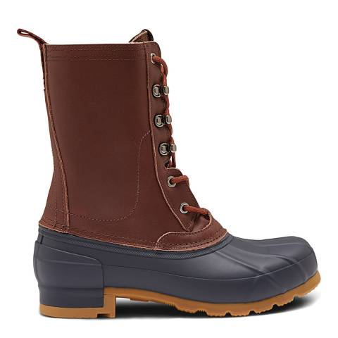 Hunter Burnt Sienna/Navy Original Insulated Boots
