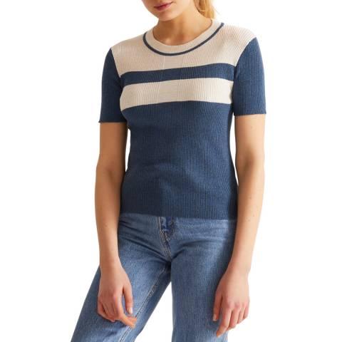 Rodier Blue Short Sleeve Pullover