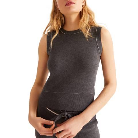 Rodier Dark Grey Sleeveless Wool/Cashmere Pullover