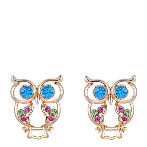 Ma Petite Amie Owl Earrings with Swarovski Crystals