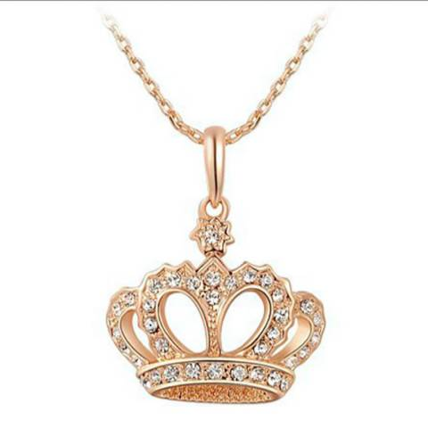 Ma Petite Amie Crown Necklace with Swarovski Crystals