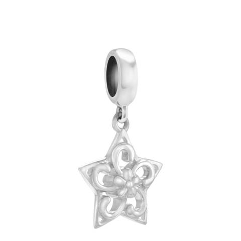 Chamilia® by Swarovski® Sterling Silver Filigree Star Drop Charm